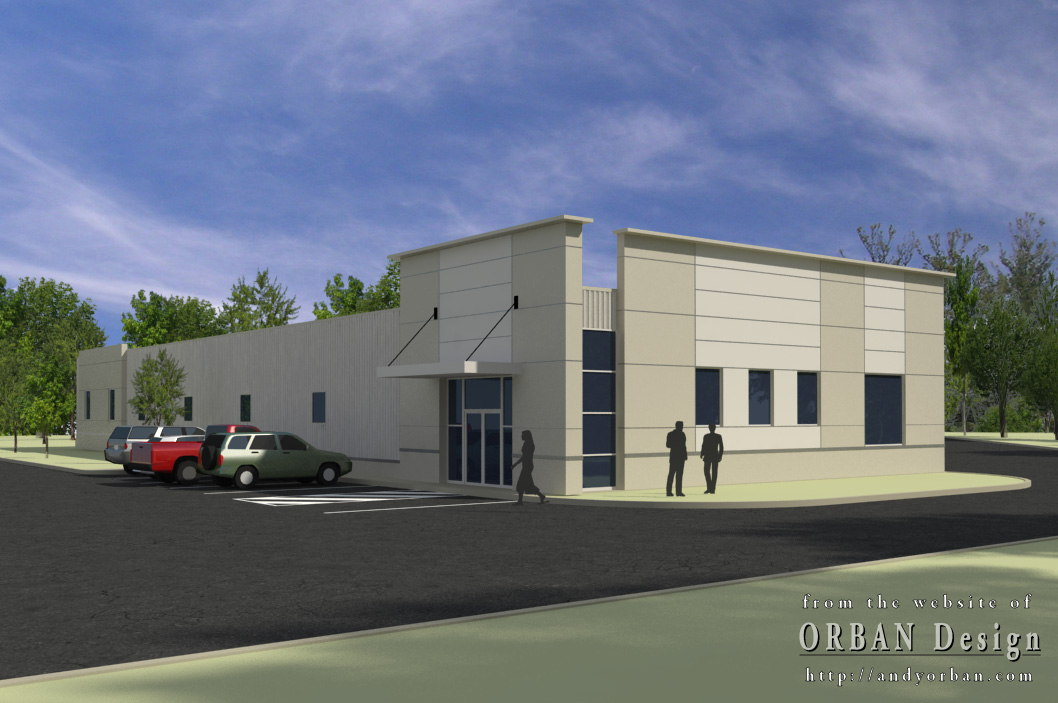 Light commercial exterior rendering charlottesville for Building design