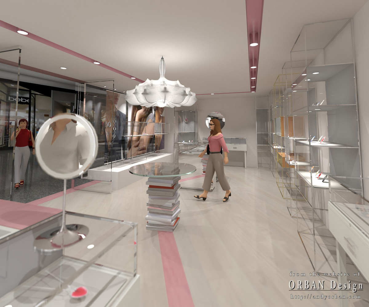 contemporary jewelry store interior