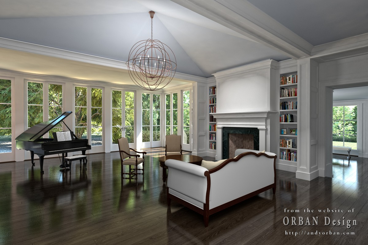 luxury mansion interior rendering 2