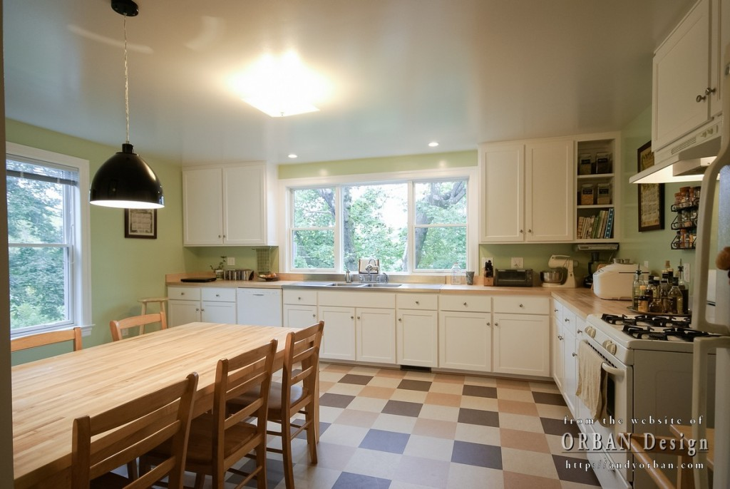 completed Locust Avenue kitchen addition