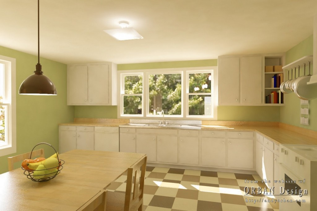 final interior rendering of proposed kitchen