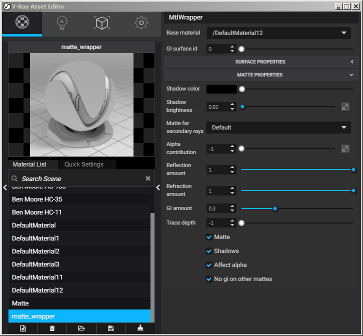 Shadow Catcher material in the New V-ray for Sketchup 2 0
