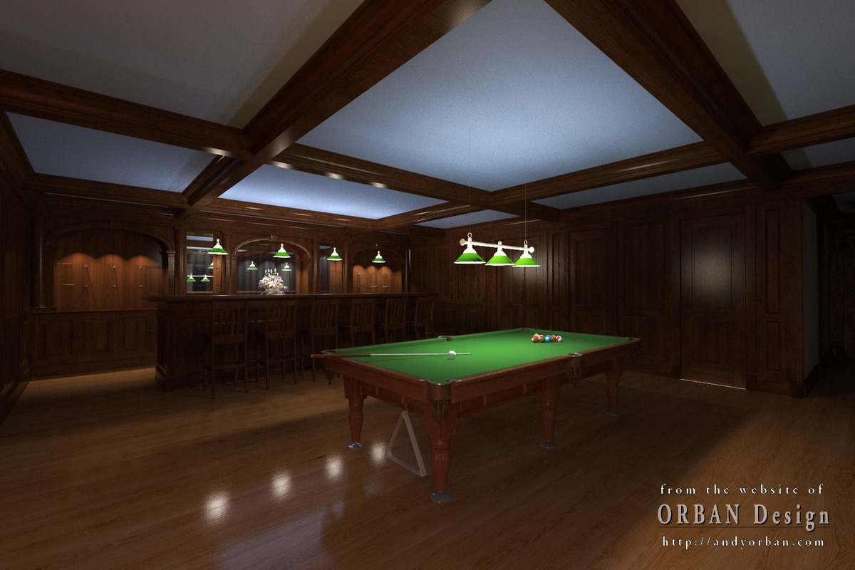 Billiard 01 charlottesville architectural rendering for Pool design sketchup