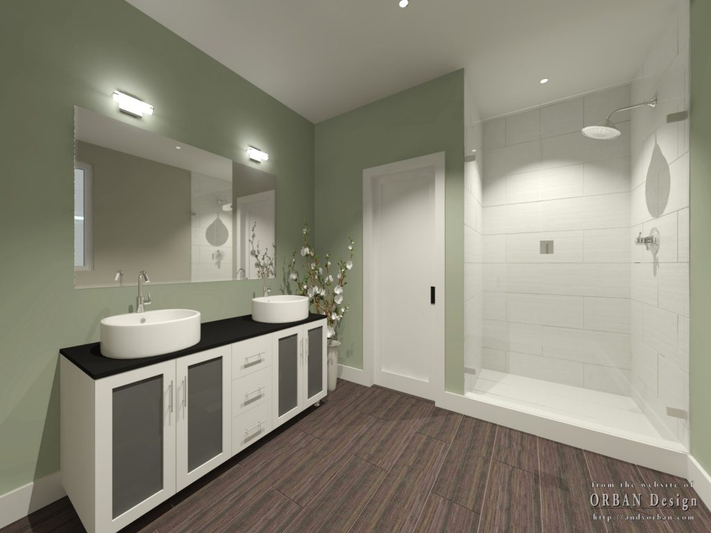 master suite bathroom rendering