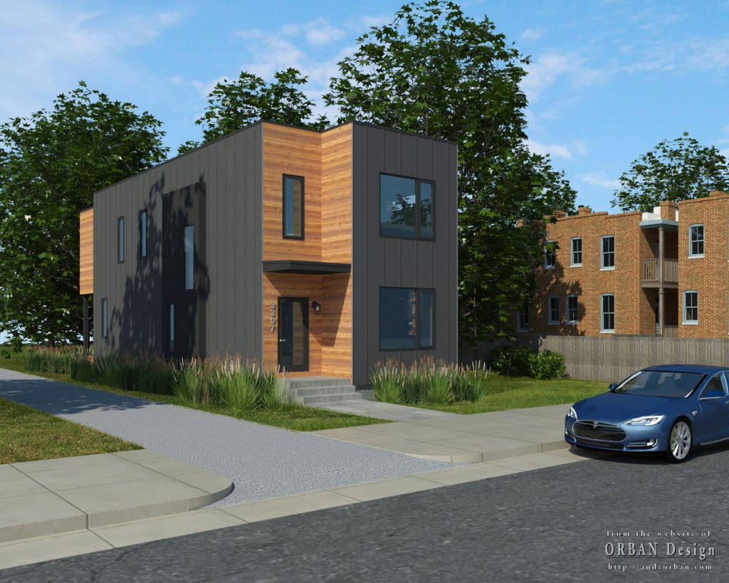 exterior rendering for new construction